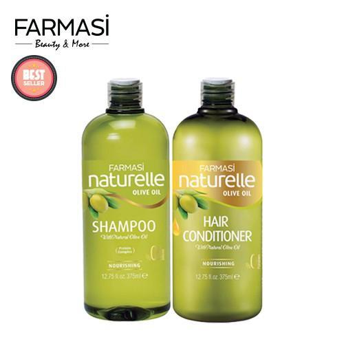 Offer Giảm Giá [Combo2B] Dầu Gội Và Xả Chiết Xuất Olive Farmasi 375ml/chai