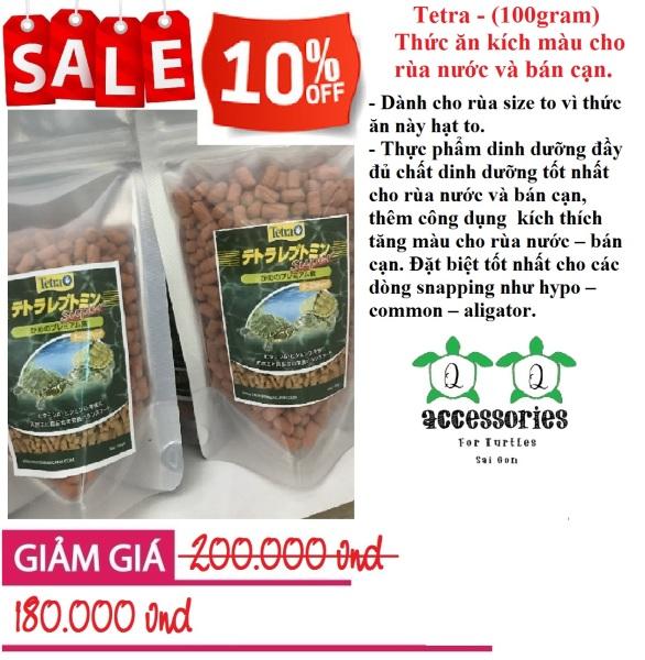 Tetra - Thức ăn kích màu cho rùa nước và bán cạn (100gram)