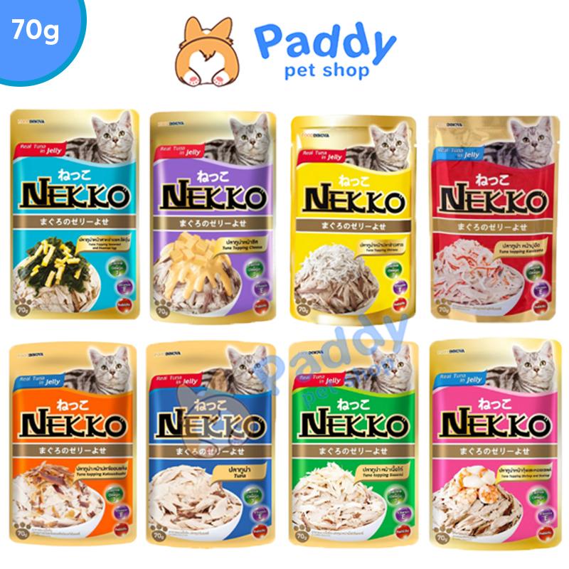 [HCM]Pate Nekko Cho Mèo Dạng Thạch Jelly 8 Vị (70g)