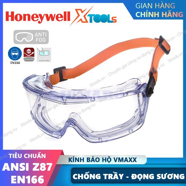Giá bán Kính chống bảo hộ hóa chất Honeywell V-Maxx - Kính bảo hộ chống hơi sương, bảo vệ mắt khỏi khói bụi, hóa chất,chính hãng [XTOOLs][XSAFE]