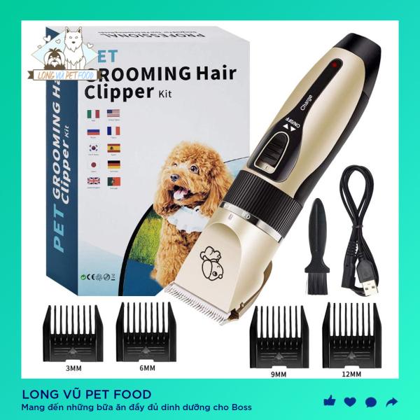 Tông đơ cắt lông chó mèo grooming hair clipper cao cấp - Long Vũ Pet Food