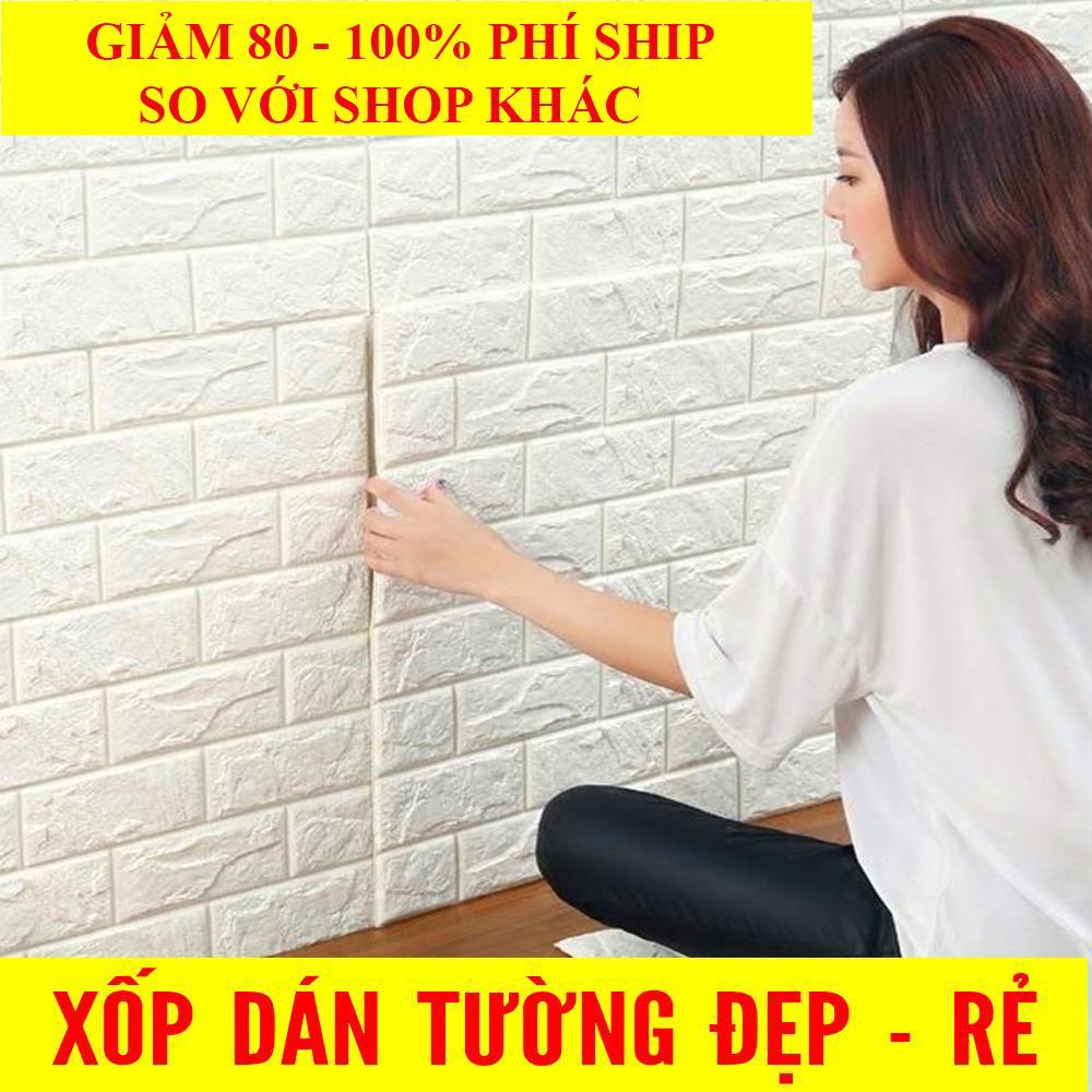 Combo 10 Tấm Xốp Dán Tường 3D Giả Gạch Bền Màu Chịu Lực Chống Nước Chống ẩm Mốc Không độc Hại 70x77cm Giá Rẻ Nhất Thị Trường