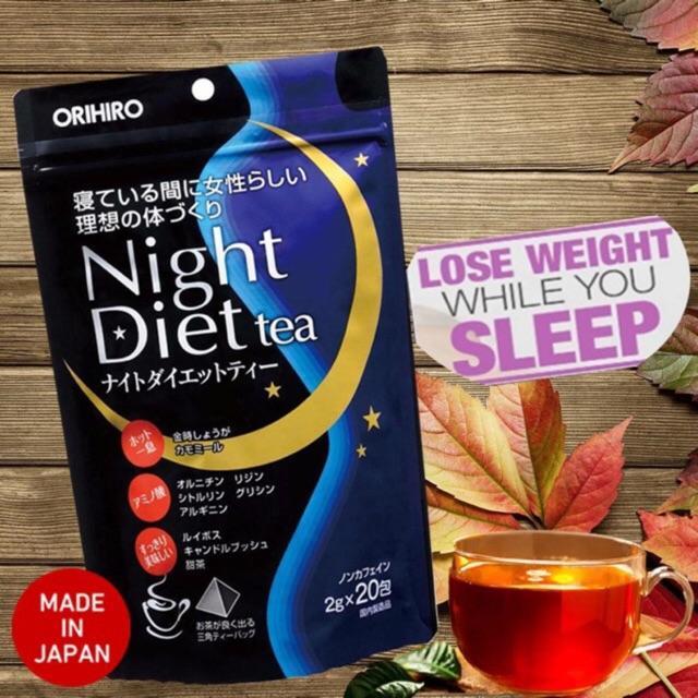 Trà Giảm Cân Ban đêm Orihiro Night Diet Tea Nhật bản(20 goi)