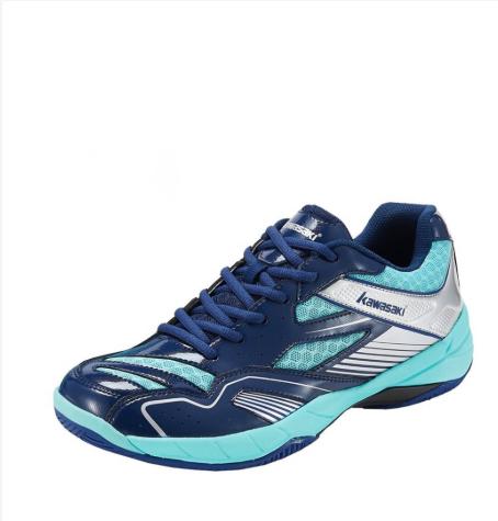Giày cầu lông nam Kawasaki K159 màu xanh, màu trắng, đế kếp, ôm chân - Giày cầu lông nữ - giày bóng chuyền nam nữ