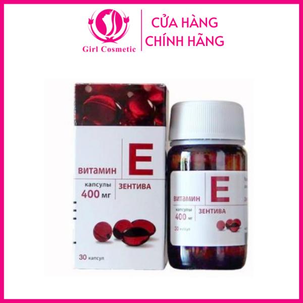 Vitamin E - Viên Uống Vitamin E Đỏ Nga 400mg Giúp Bạn Chống Lão Hóa,Làm Mờ Vết Thâm,Nếp Nhăn