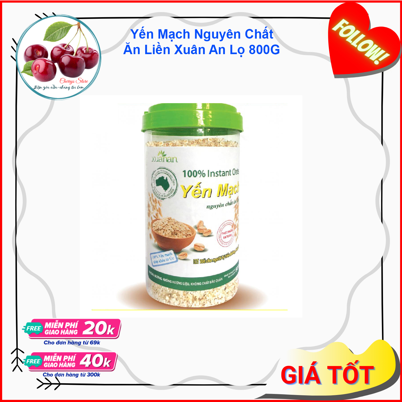 Yến mạch nguyên chất Ăn Liền Xuân An hộp 800G Loại Thơm Ngon - CHERRYS - YMNC131