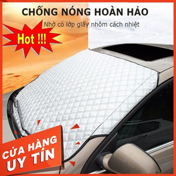 Bạt Che Nắng Kính Lái, phủ toàn mặt kính trước xe ô tô phủ nhôm bạc - loại dày cao cấp