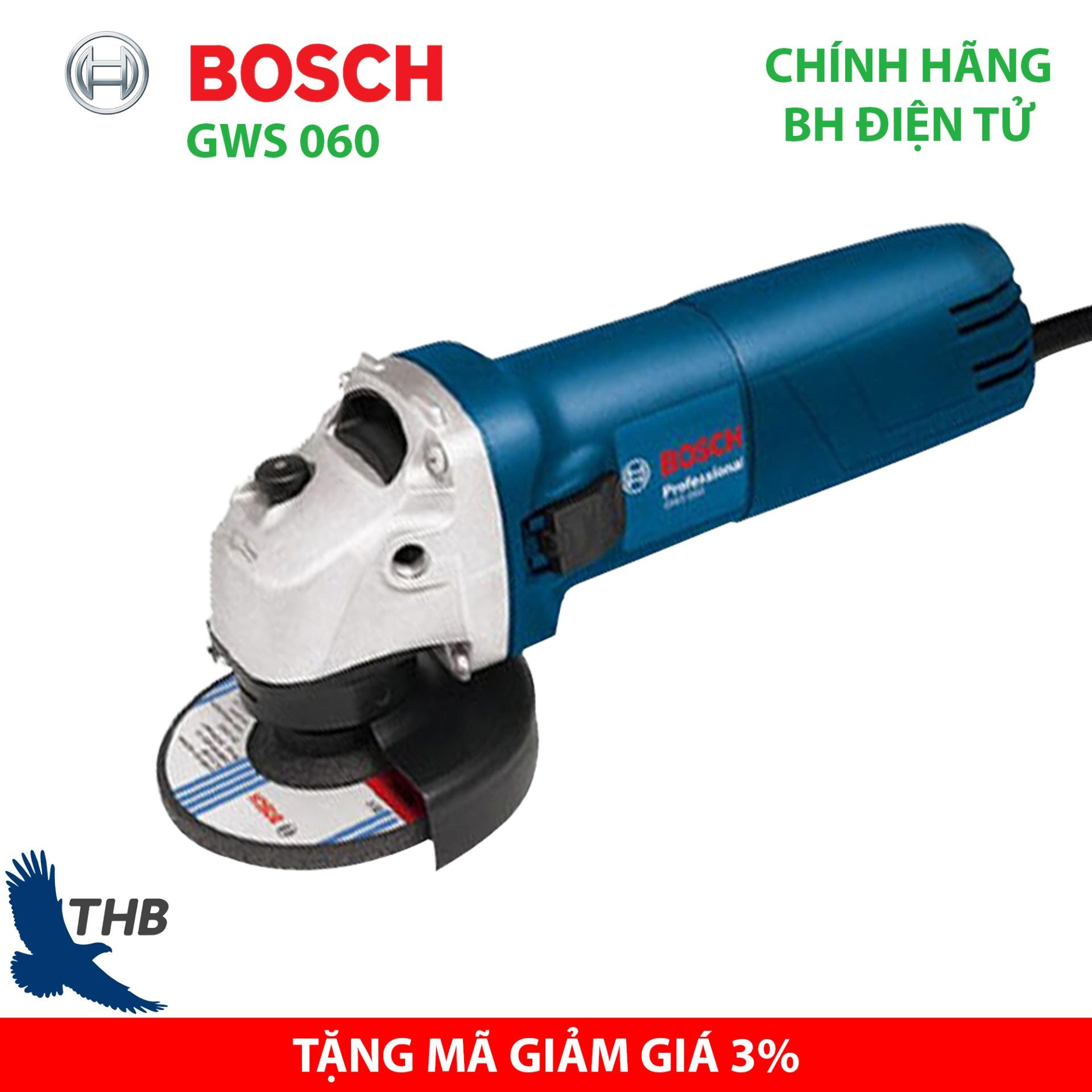 Máy mài góc nhỏ Máy cắt sắt cầm tay Bosch GWS 060 Công suất 670W đá 100 bảo hành 6 tháng - Dòng máy mài bán chạy nhất năm 2019
