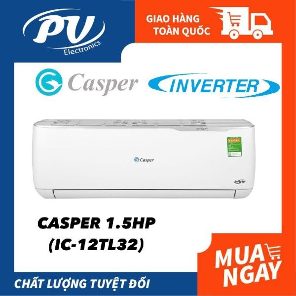 Máy lạnh Casper INVERTER 1.5 HP IC-12TL32 , mẫu mới 2020 - BTRẢo hành 36 tháng