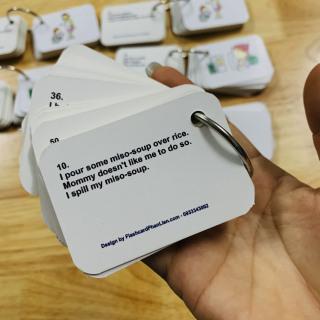 Flashcard 900 mẫu câu giao tiếp tiếng anh cùng con hằng ngày kèm file nghe 7