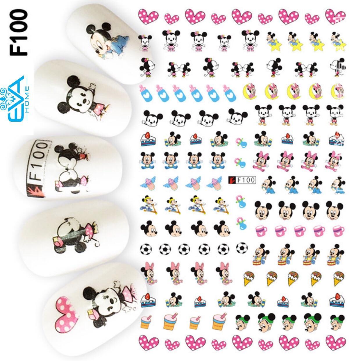Miếng Dán Móng Tay 3D Nail Sticker Hoạt Hình Chuột Mickey F100 tốt nhất