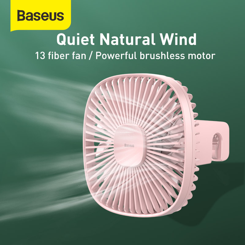 Baseus Magnetic Air Cooling Fan Wireless Car Handheld Fan 360 Degree Rotating Car Air Conditioner Rear Seat Fan