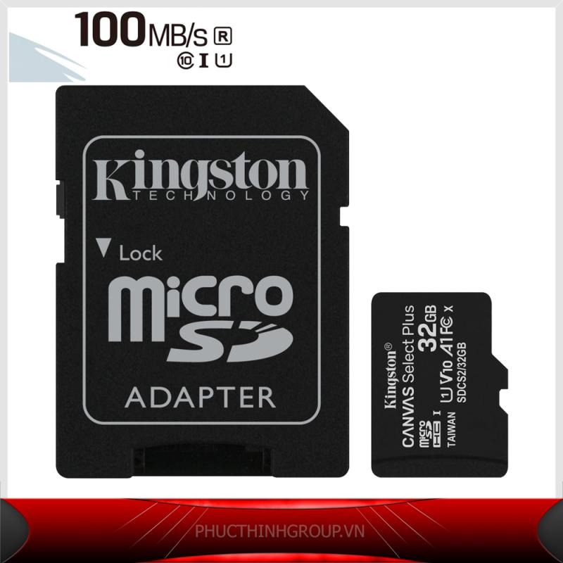 Thẻ nhớ 32GB Kingston TỐC ĐỘ CAO A1 100MB/S Micro SDHC UHS1 Class10  - Hãng Phân Phối chính Thức (PT)