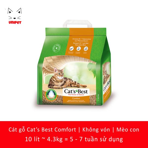 Cát vệ sinh không vón siêu tiết kiệm cho mèo con Cats Best Comfort 10 lít