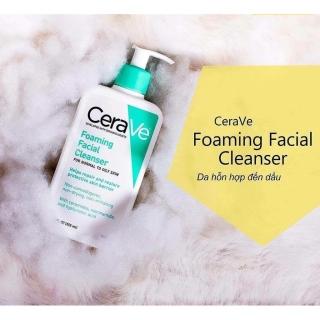 Sữa rửa mặt Cerave đủ size đủ loại CeraVe Foaming Facial Cleanser chính hãng từ Mỹ nhập máy bay chất lượng tuyệt hảo thumbnail