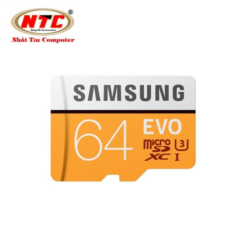 Thẻ Nhớ MicroSDXC Samsung Evo 64gb UHS-I U3 4K 100MB/s (Cam)