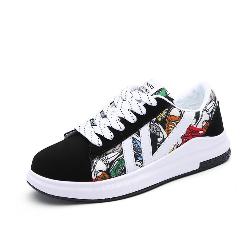 Giá bán Trẻ Em Trẻ Em Giày Giày Mùa Xuân Cô Gái Cô Gái Học Sinh Giày Vải Thường Vải Bạt Giày Đế Bằng 12-15 Tuổi Kiểu Hàn Quốc