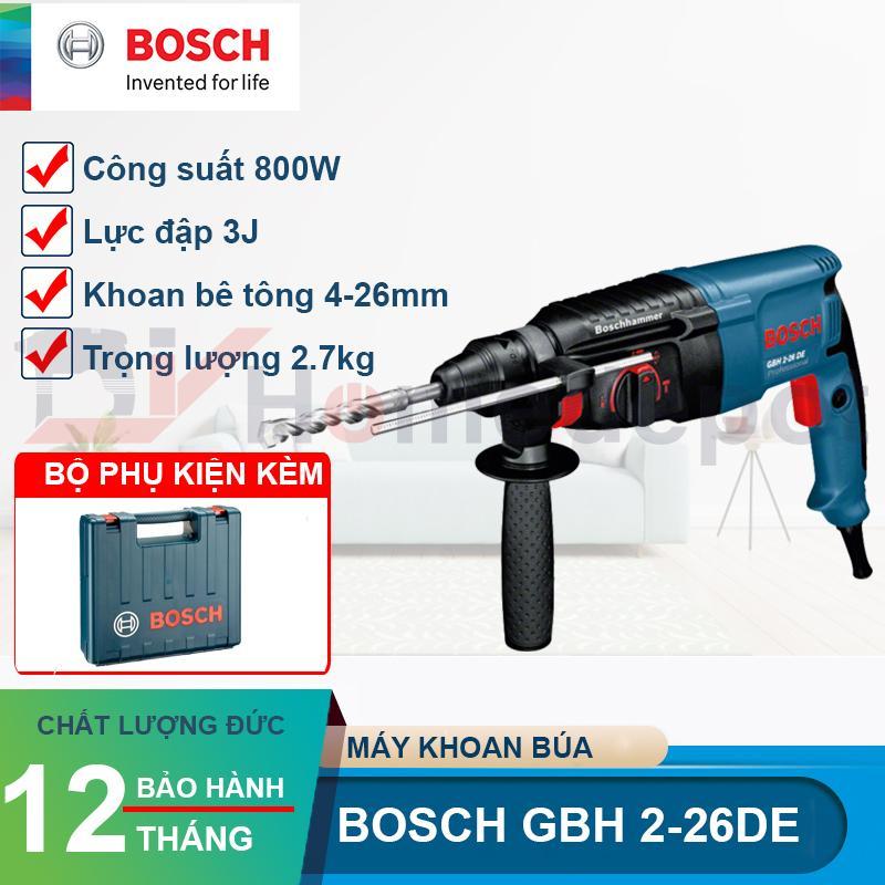 Máy khoan búa bê tông Bosch GBH 2-26 DE