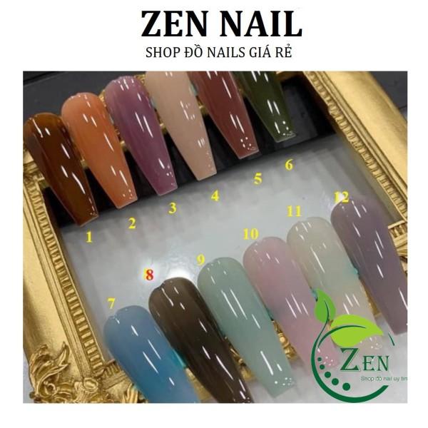 Set Sơn bobo Thạch Anh 12 màu(15ml) - Sơn Thạch thợ nails cần có(lẻ chai)