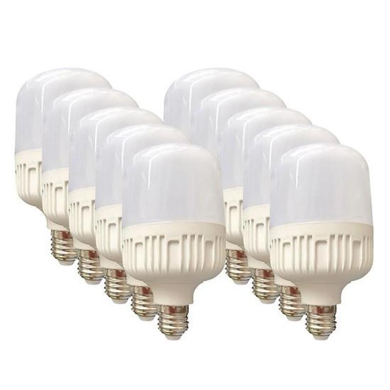 Bộ 10 bóng đèn LED Trụ 20W kín nước (Trắng)