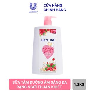 Sữa Tắm Hazeline Yến Mạch & Dâu Tằm - Sáng Mịn Đều Màu (Chai 1.2kg) thumbnail