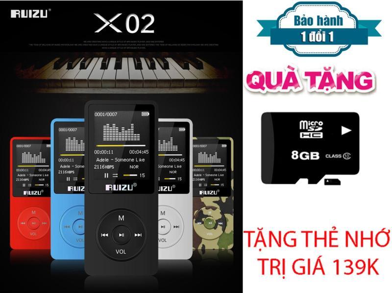 Máy Nghe Nhạc Mp3 Ruizu X02 + Tặng thẻ nhớ 8Gb Class 10