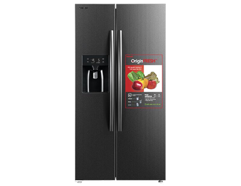 Tủ lạnh SBS Toshiba Inverter 493 lít GR-RS637WE-PMV(06)-MG - Bảo hành 24 tháng