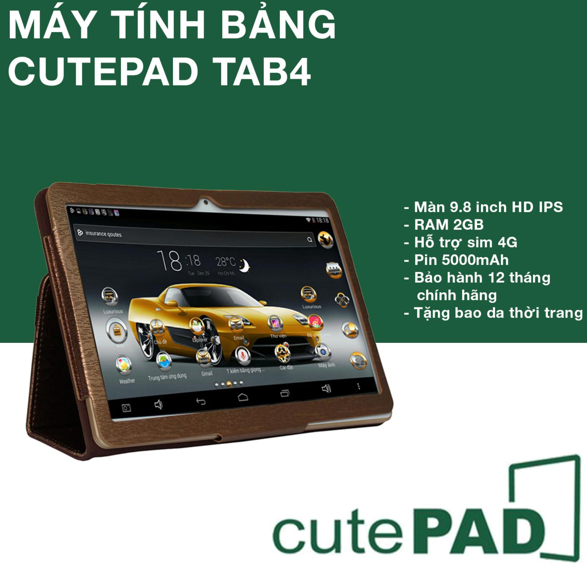 Máy tính bảng cutePAD (2018-Gold) M9601 Wifi/3G 16GB, Ram 2GB, 9.6