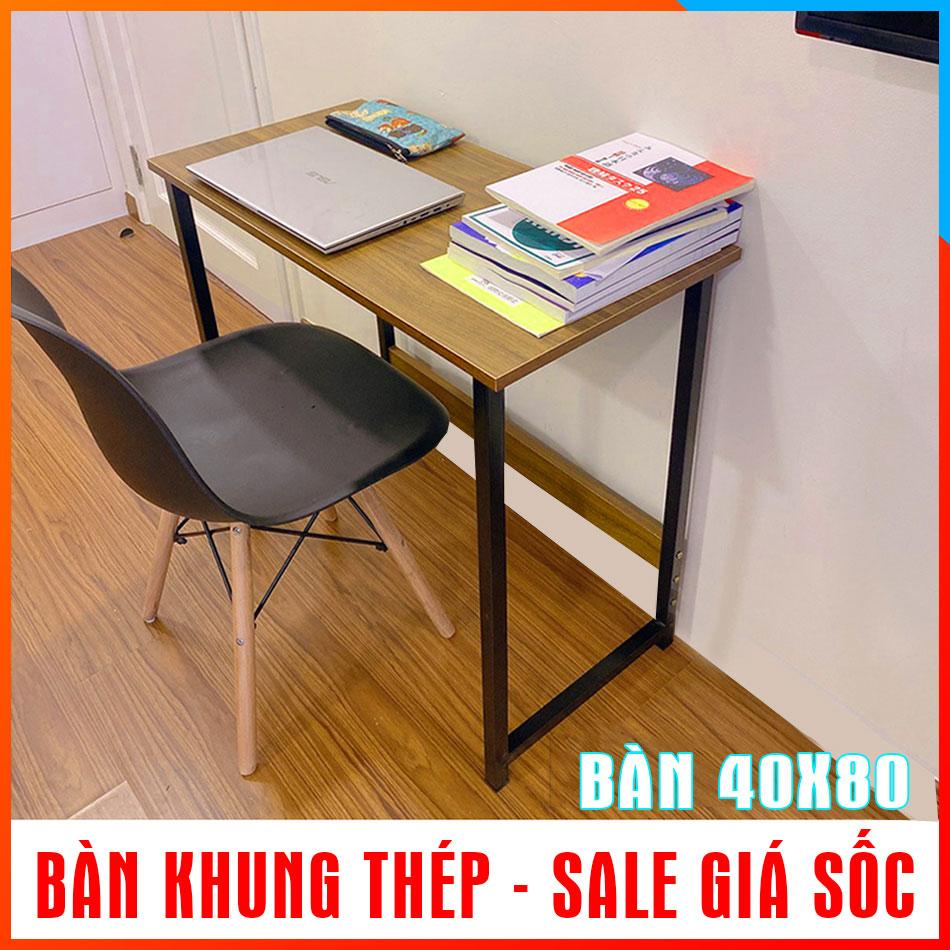 Bàn máy tính, bàn học thiết kế kiểu Hàn T-Table khung thép sơn tĩnh điện, loại 40x80cm
