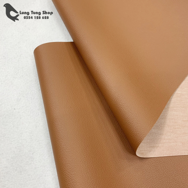 Vải da simili - Vải giả da màu nâu khổ 1,4m ( HÌNH ẢNH DO SHOP TỰ CHỤP )