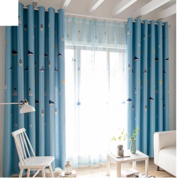 Rèm vải dày che nắng tốt cách nhiệt đèn chum 4m x 2.7m cao xanh
