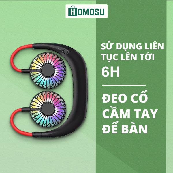 Bảng giá Quạt Đeo Cổ Mini Tích Điện 1500mah 3 Tốc Độ Gió Sạc USB Tiện Ích DFS06 Phong Vũ