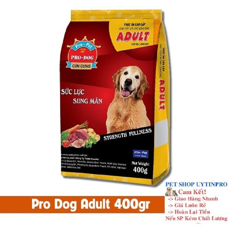 THỨC ĂN CHO CHÓ Pro-Dog Adult Dạng hạt Túi 400g Xuất xứ Pro-Pet Việt Nam