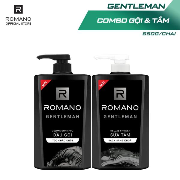 Combo Dầu gội và Sữa tắm Romano Gentleman 650gr*2 giá rẻ