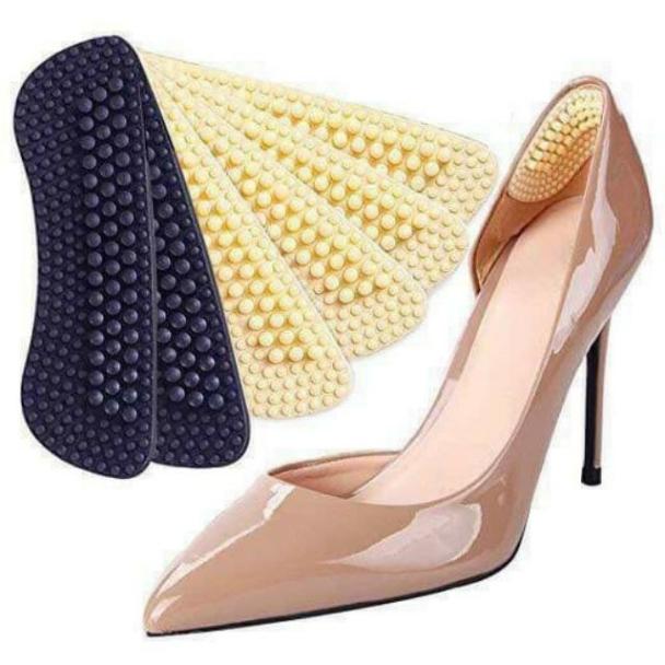 Miếng lót gót giày chống trơn trượt đau gót chân 4D silicon giá rẻ