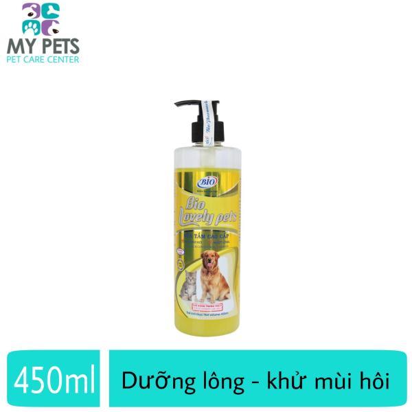 Sữa tắm dưỡng lông khử mùi hôi cho chó mèo - Bio Lovely pet Premium 450ml