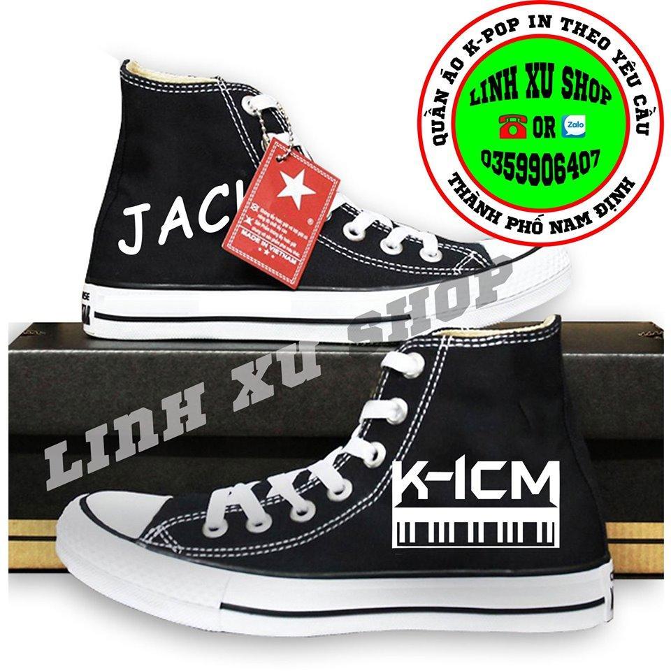 Voucher Khuyến Mãi Giày Cao Cổ JACK K-ICM Giày JACK KICM In Theo Yêu Cầu