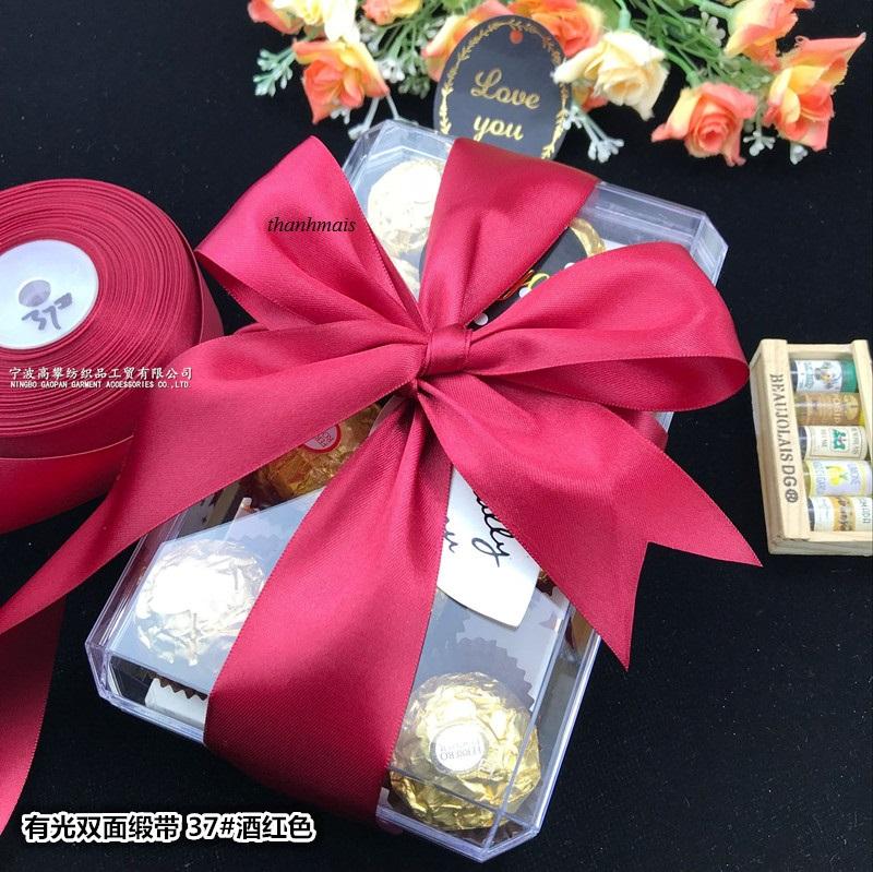 Offer tại Lazada cho Ruy Băng Lụa 2cm Cuộn 22m,ruy Băng Lụa 2 Phân