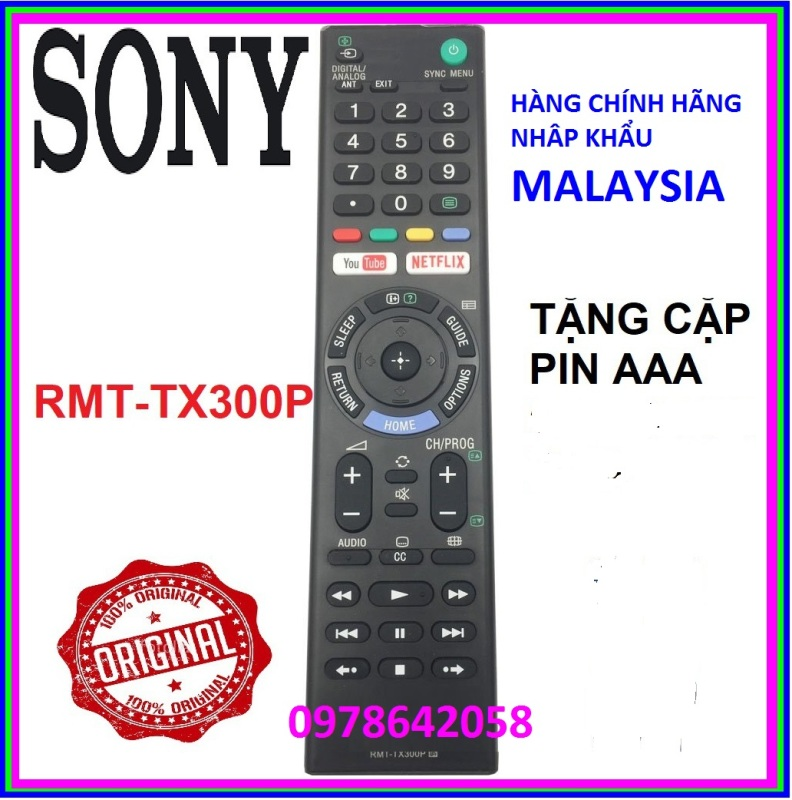 Bảng giá Điều Khiển Tivi Sony RMT - TX300P Cho Mọi Dòng TV Sony Bền Nhạy Phím Êm
