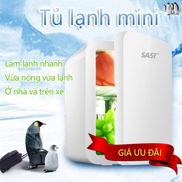 Tủ lạnh mini 8L dùng trên xe oto hoặc gia đình, vừa làm lạnh vừa làm ấm được Tops Market