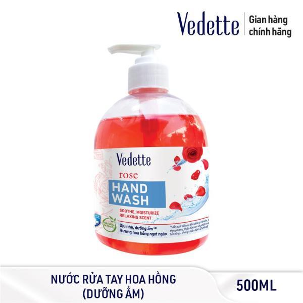 Nước Rửa Tay Hương Hoa Hồng Vedette 500ml