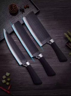 [BÉN TRỌN BỘ] Bộ 3 dao thép không gỉ gợn sóng chống dính siêu bén (chuyên thái, lọc thịt, gọt hoa quả) thumbnail