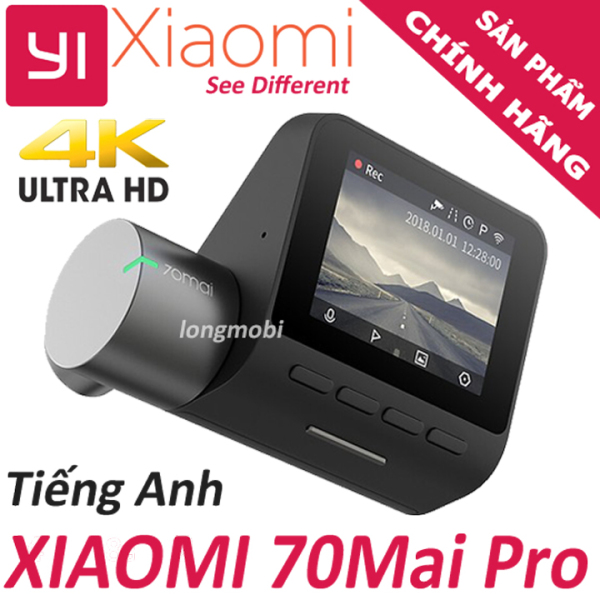 Xiaomi 70Mai Pro Bản Quốc Tế - Camera hành trình chuẩn 4K, wifi cảm biến SONY IMX335