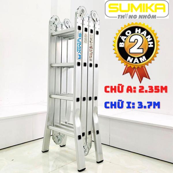Thang nhôm gấp 4 đoạn đa năng Sumika SK604 4,7m