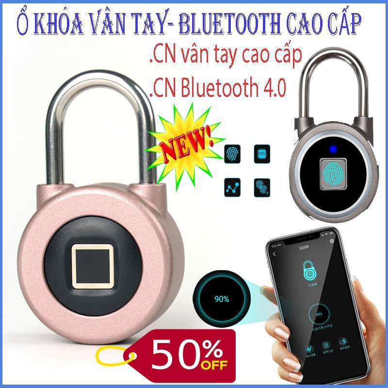 Ổ khóa, Khóa đa năng, Khóa chống trộm, Ổ khóa bằng vân tay- Bluetooth 4.0 mở bằng smartphone cao cấp, khóa thông minh,an toàn, hiện đại, BH 1 đổi 1, SALE 50%