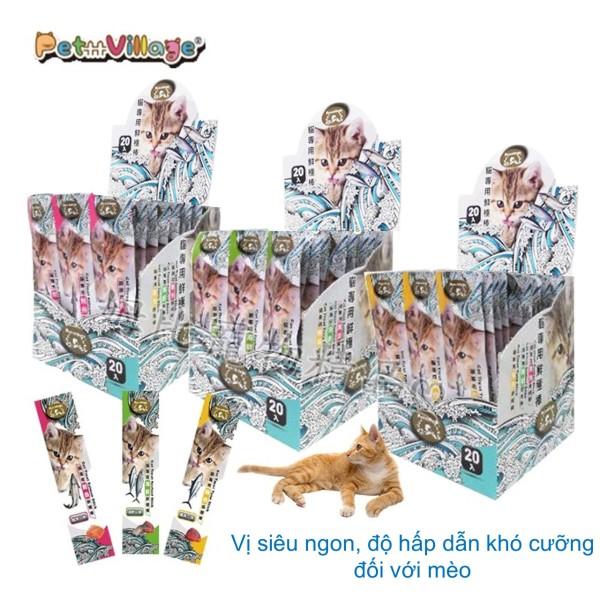 Thức ăn cho mèo 15g Thanh thịt tươi đồ ăn bổ sung dinh dưỡng cho mèo, giúp cung cấp năng lượng, tăng cường sức đề kháng, hỗ trợ tiêu hóa và giúp lông bóng mượt