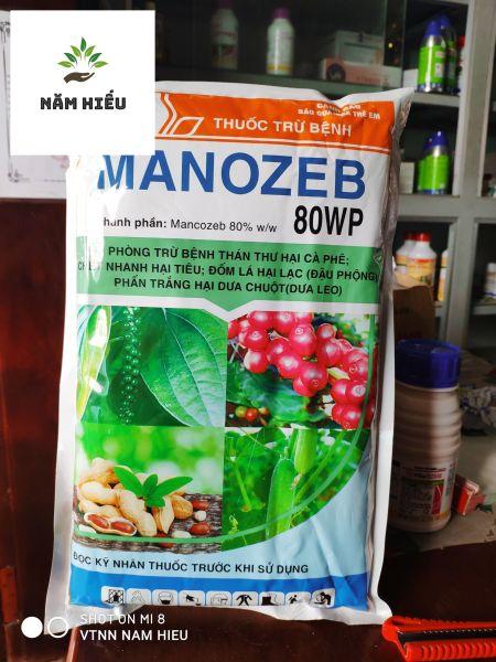 Thuốc trừ bệnh cây Manozeb 80WP xanh (Mancozeb xanh) - gói 1kg - Nông dược HAI