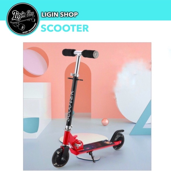 Mua Xe trượt scooter 2 bánh có đèn, xe chòi chân cho bé.