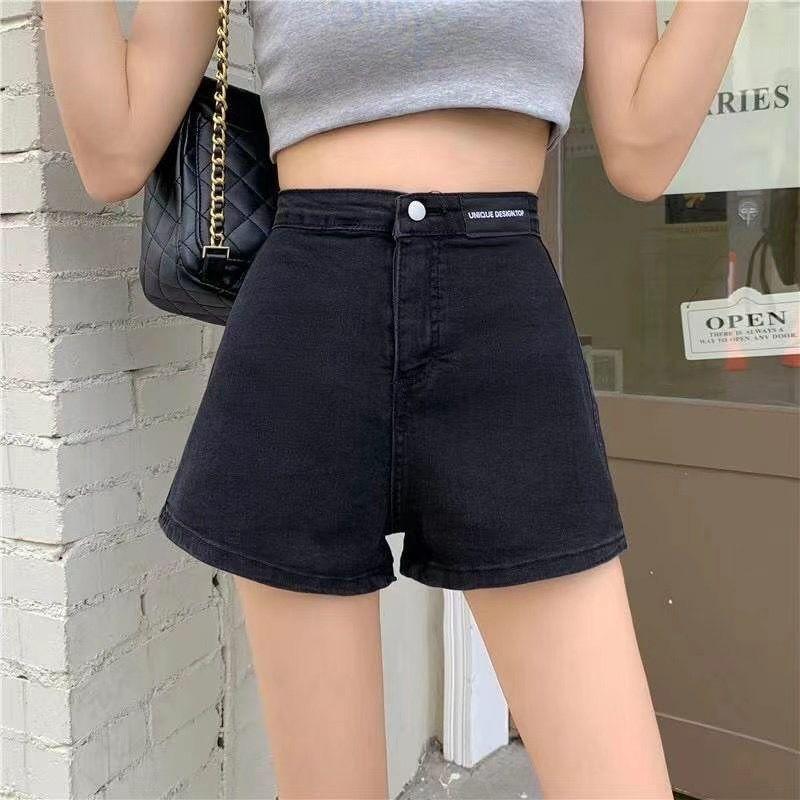 Elastic Loose2021Summer New Slim High Waist Denim Shorts for WomenbfStudents Slimming Versatile Hot Pants Tide thumbnail