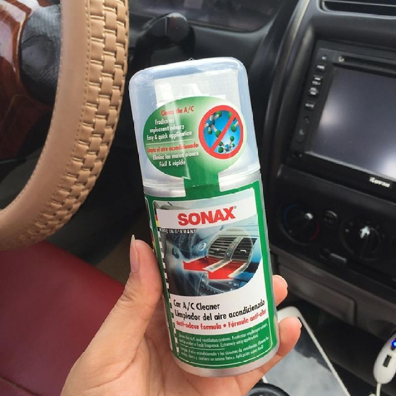 Khử mùi, diệt nấm mốc dàn lạnh ô tô thế hệ mới - Sonax a/c cleaner Air Aid